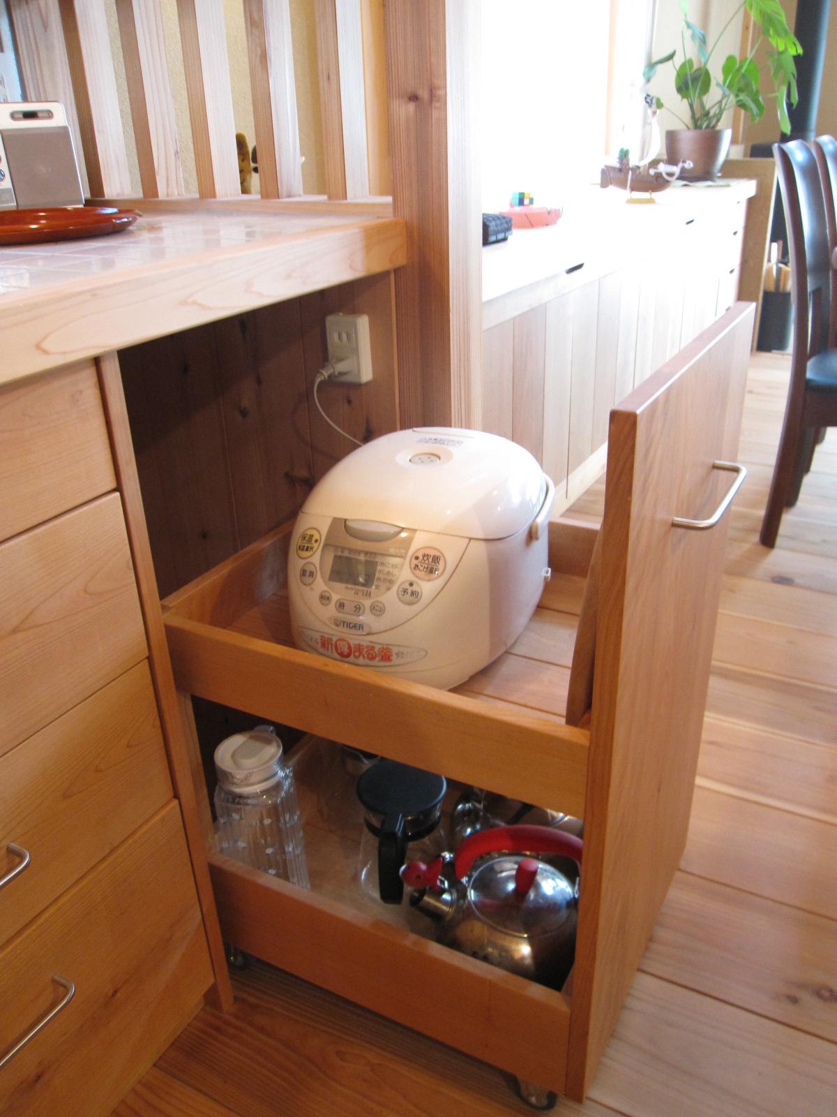 キッチン キッチン 電子レンジ 棚 : ・電子レンジ周りのキッチン ...